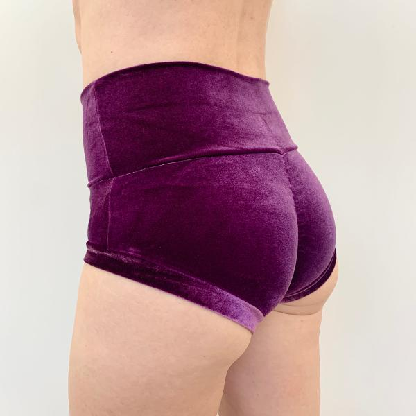 Basic Short Taille H. Velours Violet