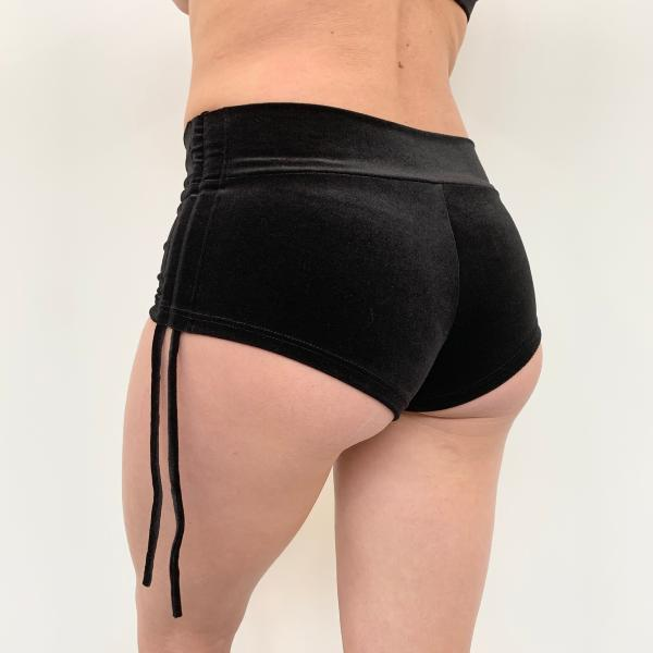 Side Short Velours Noir