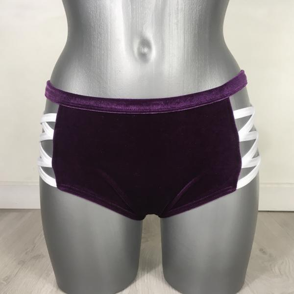 Cross Short Velours Violet/Blanc